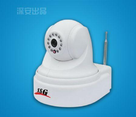 超强光网络联动语音威廉希尔体育带云台型视频防盗器(内置GSM主