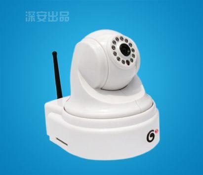 固话网超强光网络联动语音威廉希尔体育带云台型视频防盗器(内置